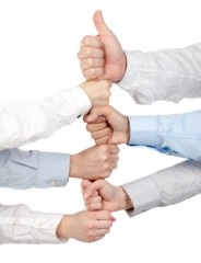 business group thumb ups